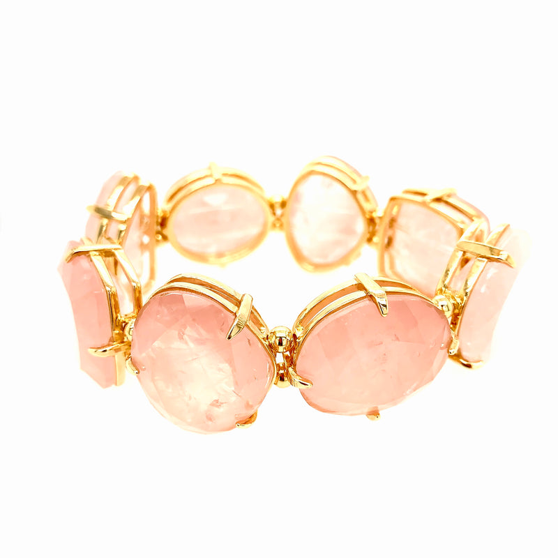 Flaming Bracelet Pink Quartz