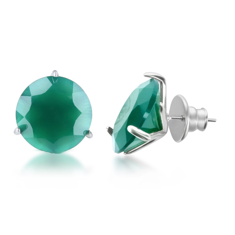 Stelle  Earrings Green Quartz