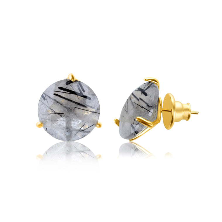 Stelle  Earrings Rutilated Qaurtz