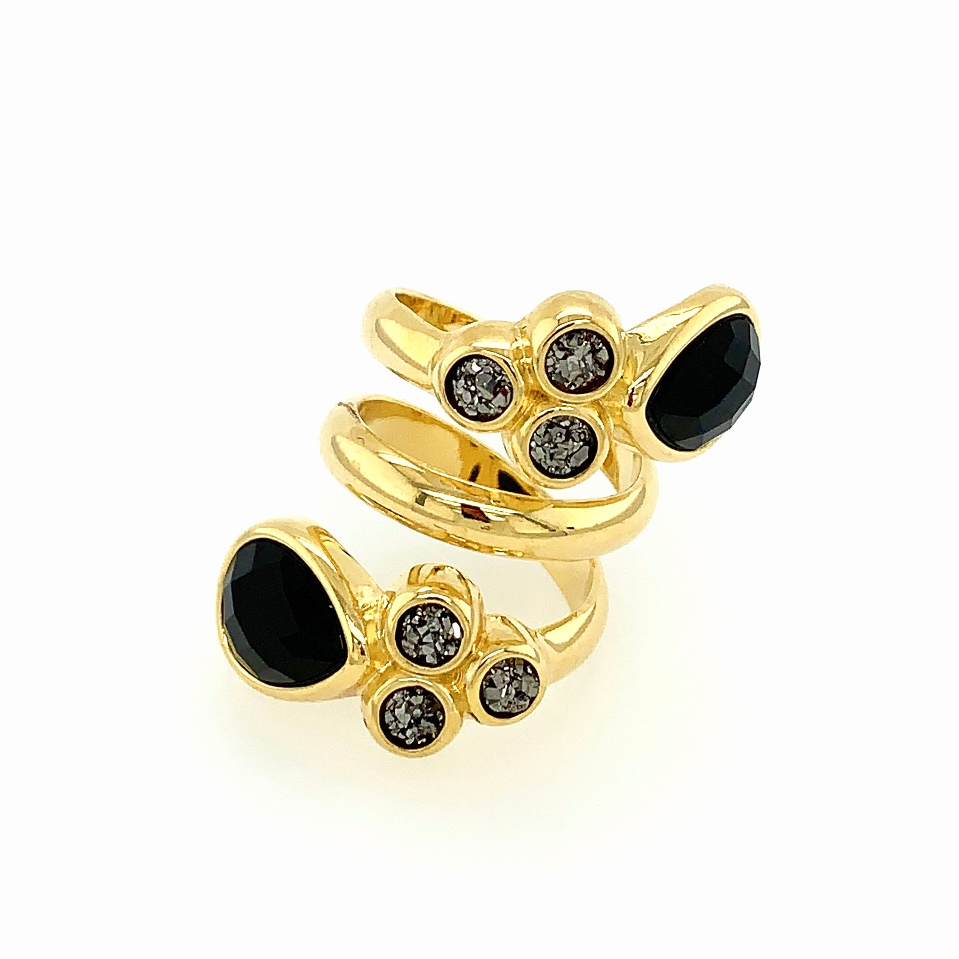 Noir Onyx and Druse Ring