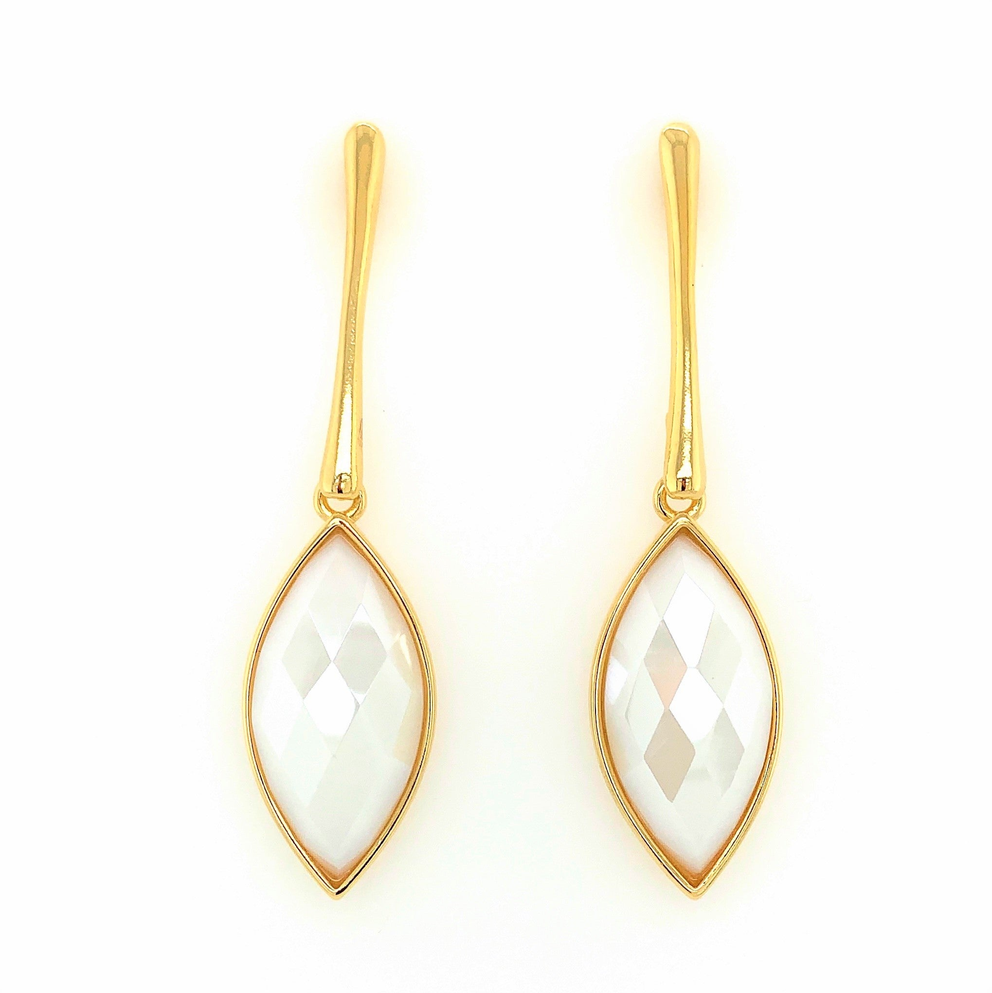 Piuma Blanc Pearlized Dolomite Earrings