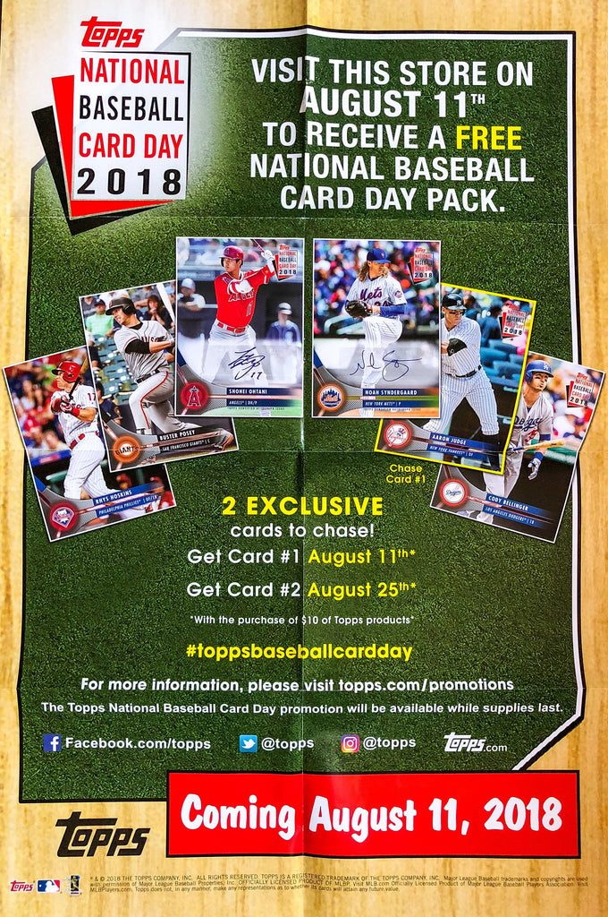 2018 National Baseball Card Day Hofbc