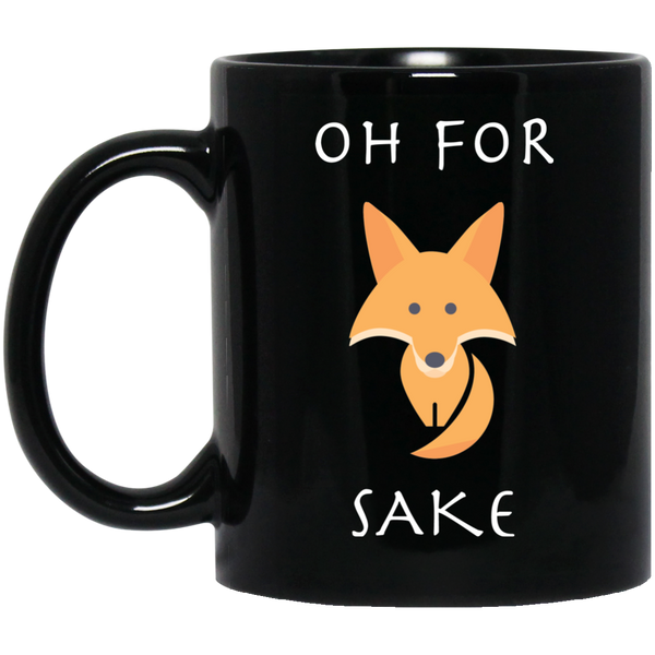 coffeesociety-mugs-45 Oh For Fox Sake Black Mug with Organge