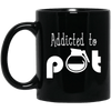 Addicted To Pot Black Mug