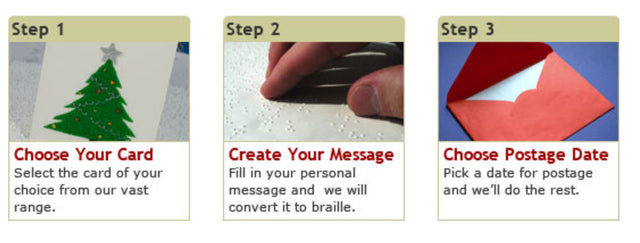 Its Easy To Create Personalised Hand Made Embossed Braille Greeting Card