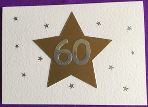 Happy Birthday - Gold Star / 60/50/40/18