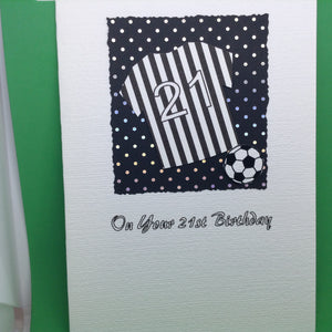 Happy 21st Birthday - Football Shirt Black