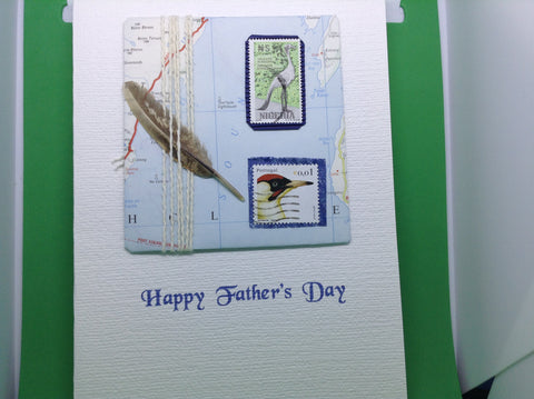 Fathers Day - Stamps & Feather