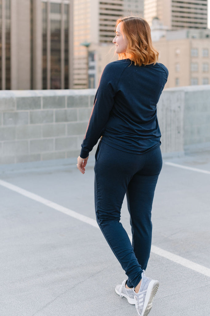 Women's Midnight Navy Slim Bamboo Jogger
