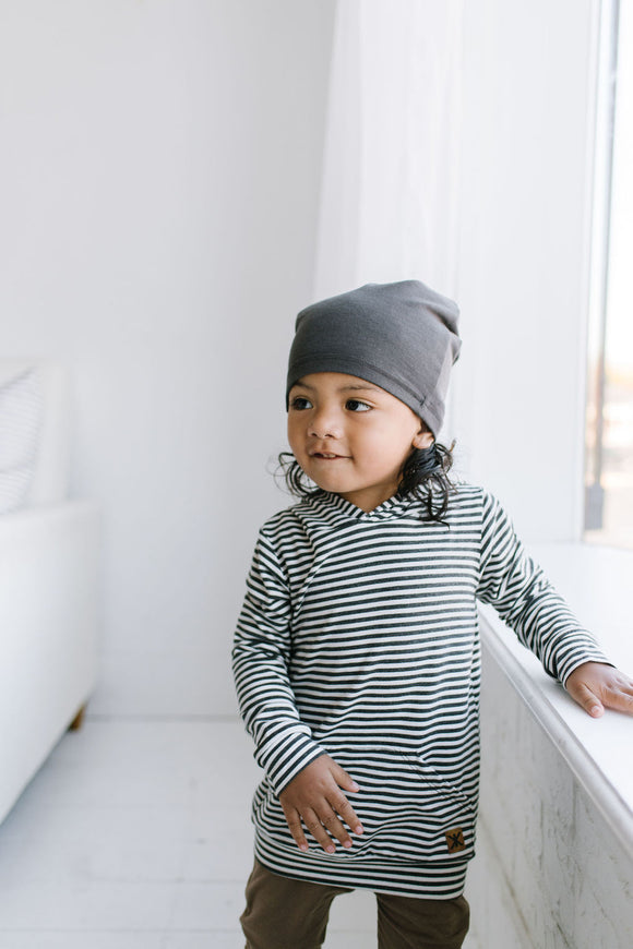 Dust Stripe Bamboo Hoodie Kids and Adults