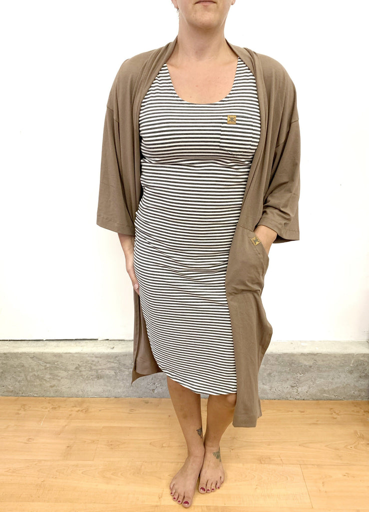 Adult's,Dresses - Dust Stripe Bamboo Women's Tank Dress PRESALE 1-2 Weeks