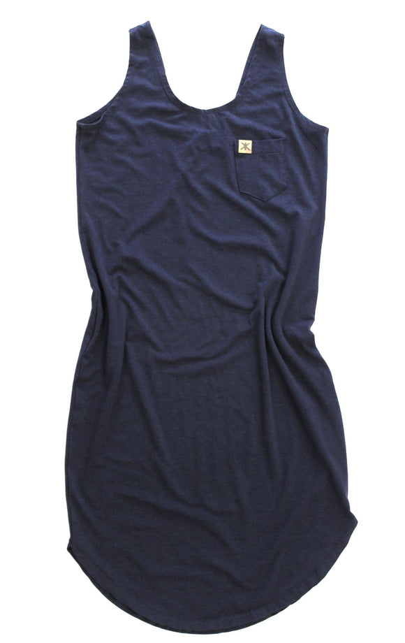 Adult's,Dresses - Midnight Navy Bamboo Women's Tank Dress