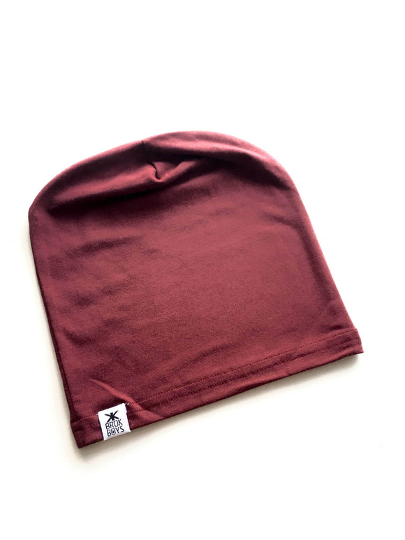 Hats, Adult's - Maroon Bamboo Slouchy Hat