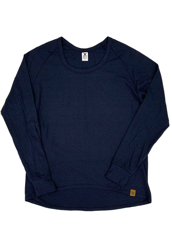 Women's Midnight Navy Bamboo Lounge Top
