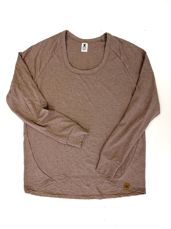 Women's Heathered Taupe Bamboo Lounge Top