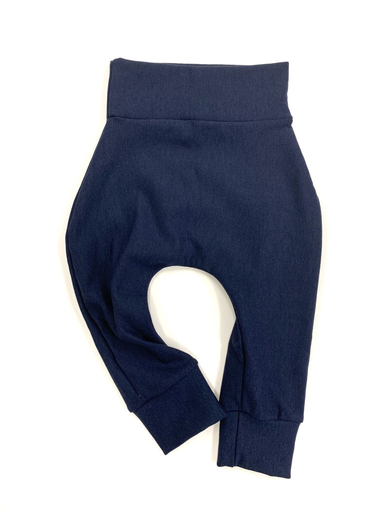 Navy Bamboo Fleece Skinnies - Sizing up to 2/3