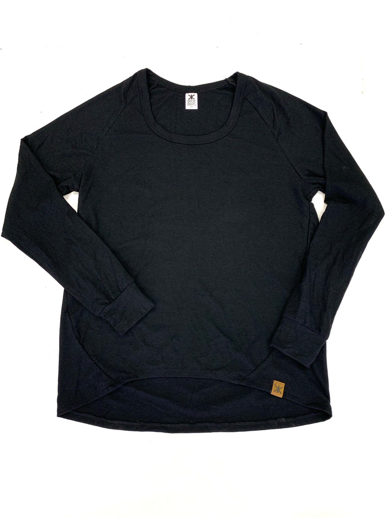 Women's Black Bamboo Lounge Top