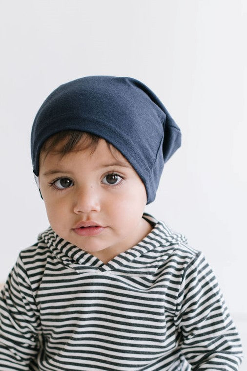 Midnight Navy Bamboo Slouchy Hat