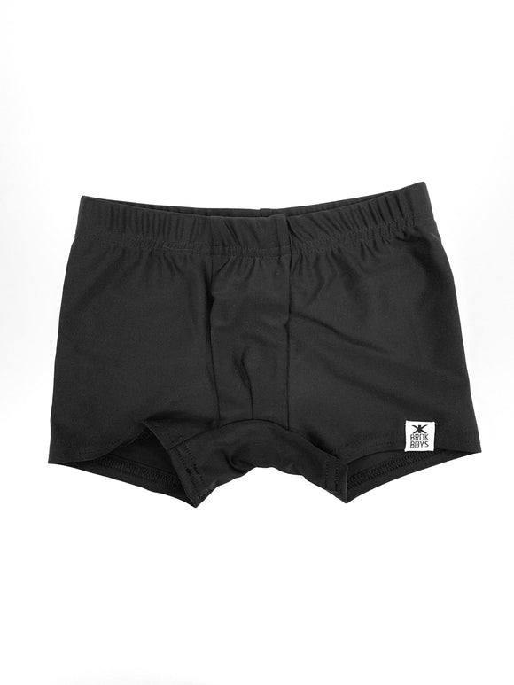 Simple Black Shortie Swimmers