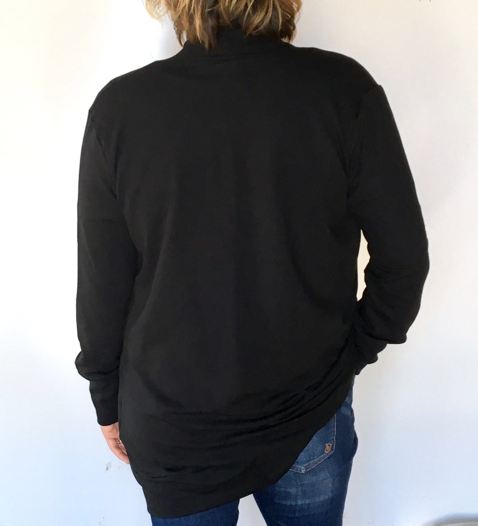 Slouchy Cardigan Black
