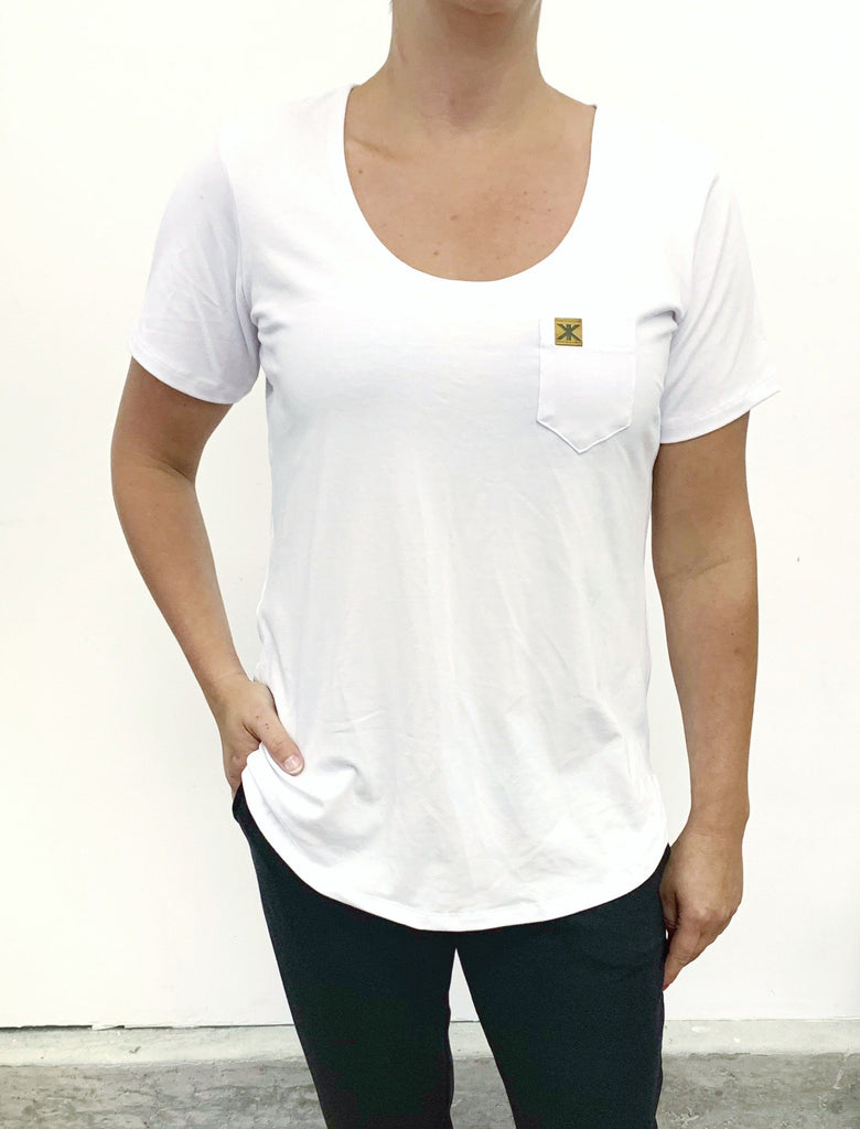 Tops - Classic White Adult Scoop Tee