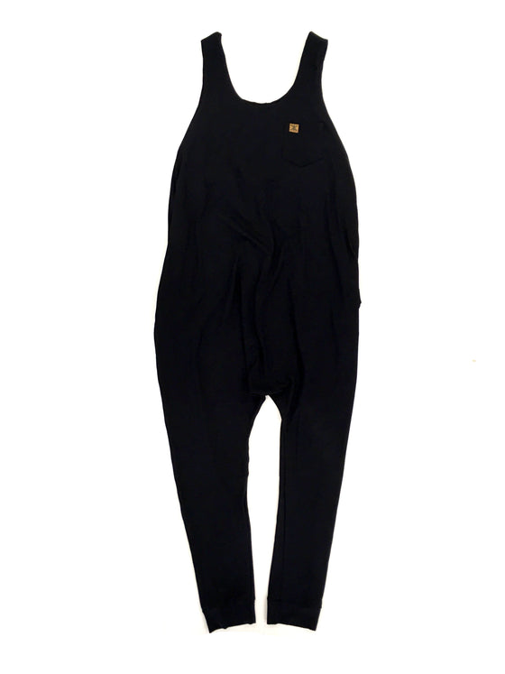 Women's Black Bamboo Lounger Romper