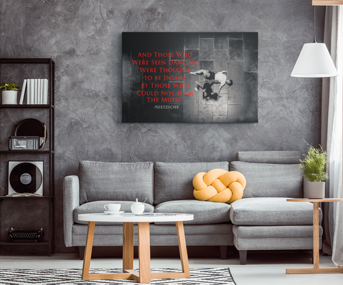 "Dance Lovers Canvas Wall Art: ""Those Who Were Seen Dancing..."""