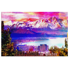 "Canvas Wall Design: ""Lake Tahoe in Winter"""