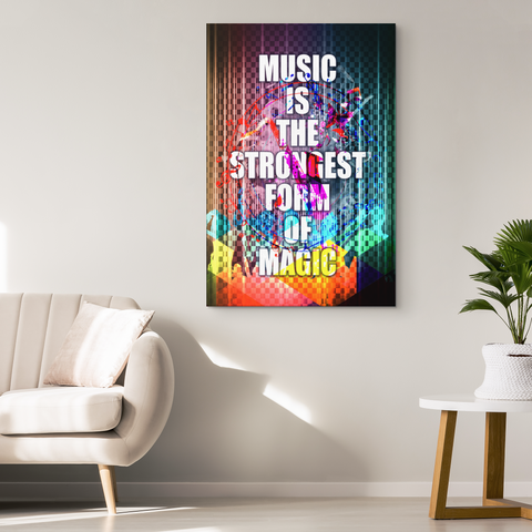 Canvas Wall Decor: Music Is The Strongest Form Of Magic