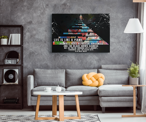 Canvas Wall Art: Life Is Like A Piano...