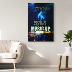 Wall Art: Sometimes You Just Have to Shut the World Out and Turn the Music Up