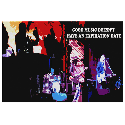 "Music Canvas Wall Art: ""Good Music Doesn't Have An Expiration Date"""