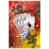 Image of Canvas Wall Art: Life Is A Gamble So Roll The Dice