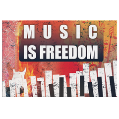 "Canvas Art: ""Music Is Freedom"""