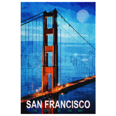 Wall Art: San Francisco The City by The Bay