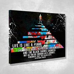 Life Is Like a Piano, Wall Art Canvas by Treasureopolis.com