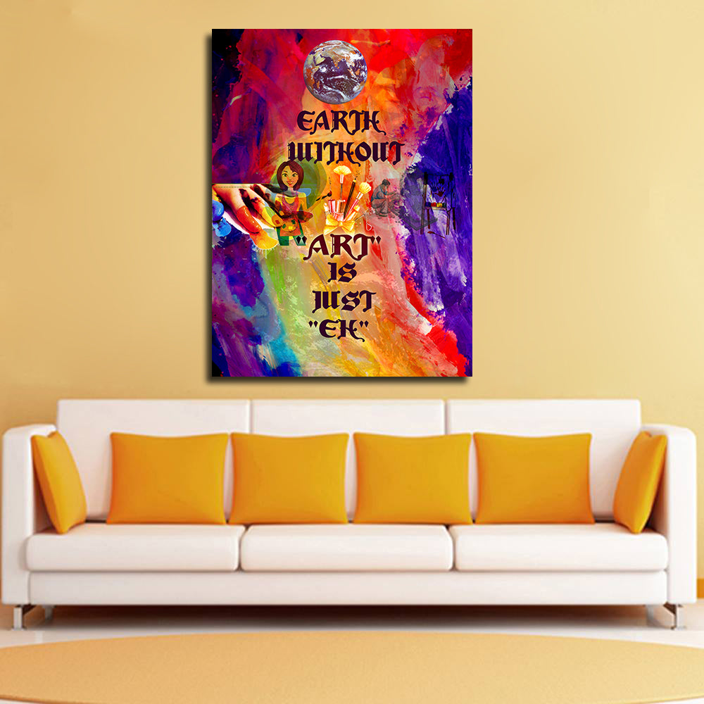 Canvas Wall Art: Earth Without \