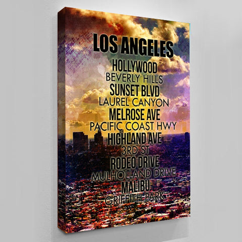 Los Angeles Streets - Canvas Art by Treasureopolis.com