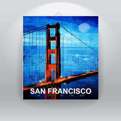 San Francisco The City by the Bay - Canvas Print by Treasureopolis.com