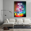 Image of Canvas Wall Decor - Music Is The Strongest Form Of Magic