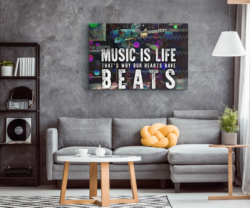 "Canvas Art ""Music Is Life..."""