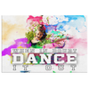 "Image of Canvas Wall Art Design: ""When In Doubt Dance It Out"""