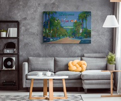 Canvas Wall Design: Welcome to California