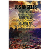 "Image of Wall Art: ""Los Angeles Streets"""