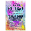 Image of Canvas Wall Art: I am an Artist That Means I live in a Crazy Fantasy World...