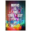 Image of Canvas Wall Decor: Music Is The Strongest Form Of Magic