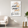"Image of Wall Art Decor: ""When Words Fail Music Speaks"""