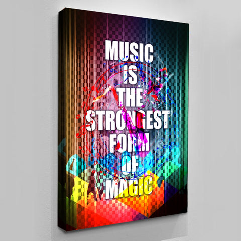 Canvas Wall Decor - Music Is The Strongest Form Of Magic