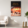 "Image of Canvas Wall Decor: ""Life Is A Song Love Is The Music"""