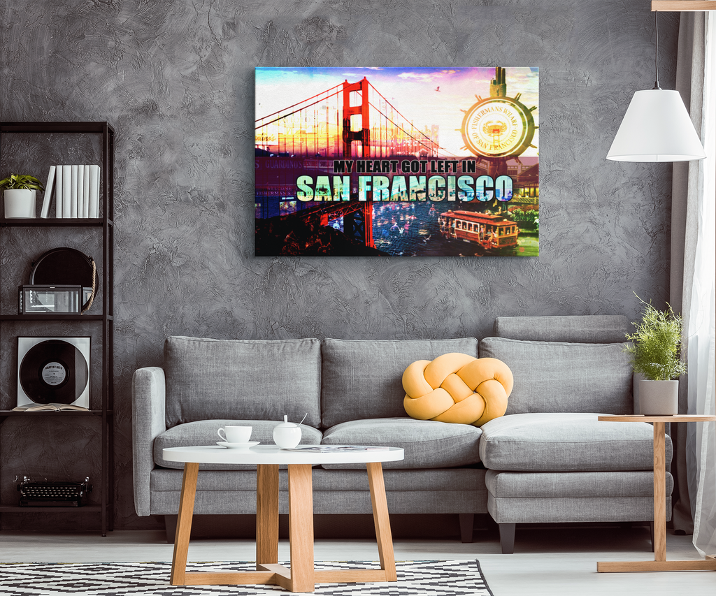 Canvas Wall Art: My Heart Got Left In San Francisco